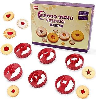 Emporte Piece Patisserie, 6PCS Emporte Piece Biscuits, Moule à Biscuits pour Enfants, Emporte Piece Cuisine pour DIY Décor...