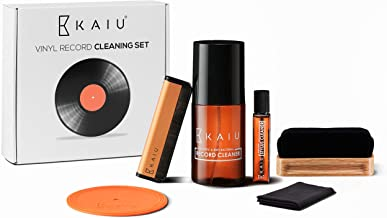 $29 » Vinyl Record Cleaning Kit by KAIU - 5-in-1 Record Cleaning Solution, Stylus Cleaner, Carbon and Velvet Brush & Microfiber ...