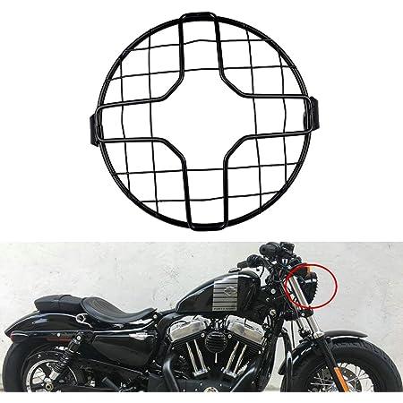 Natgic Scheinwerfer Gitter Für Motorrad Universal 17 8 Cm Scheinwerfer Passend Für 8 10 Mm Seitenmontage Schraube Auto