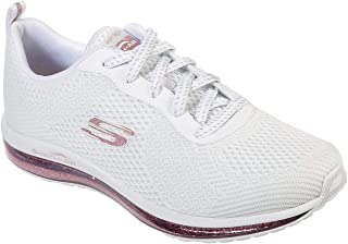 Skechers Skech-Air Element Sparkle Ave Womens Sneaker White/Rose Gold 8.5