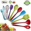 BINLAN 10 Piece Silicone Pioneer Non-stick Spatula Spoon