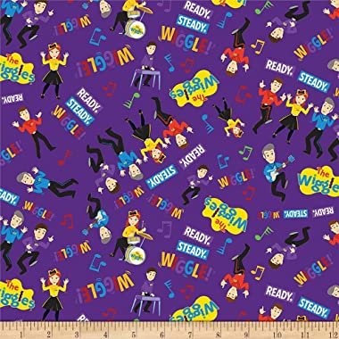 Riley Blake Wiggles Main Purple Fabric by the Yard