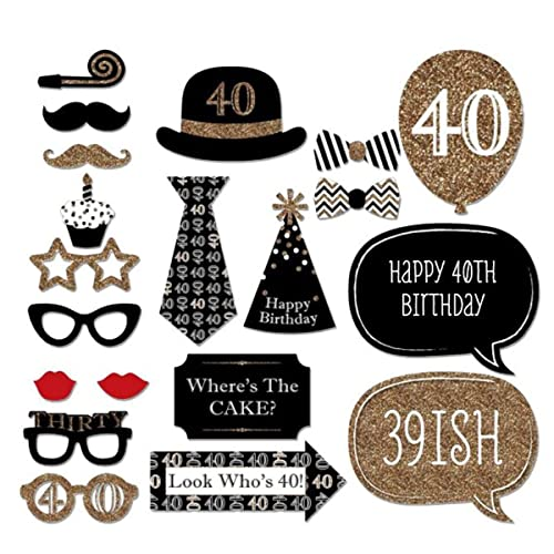 Party Hats Masks Accessories Trimming Shop Funny Photo Booth Props For Dress Up Birthday Special 20pcs 40th