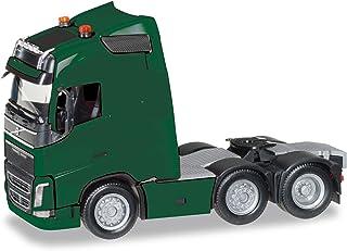 herpa - Volvo FH GL 6x2 traktor med lamphållare och två runda lampor, moosgrön