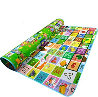 Double-sided Foam Waterproof Baby Crawling Thickening Mat Drawing Alphabet Figures Animals Pattern 71''X47''X0.2''