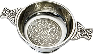 Wentworth Pewter - Medium Celtic Circle Pewter Quaich Whisky Tasting Bowl Loving Cup Burns Night
