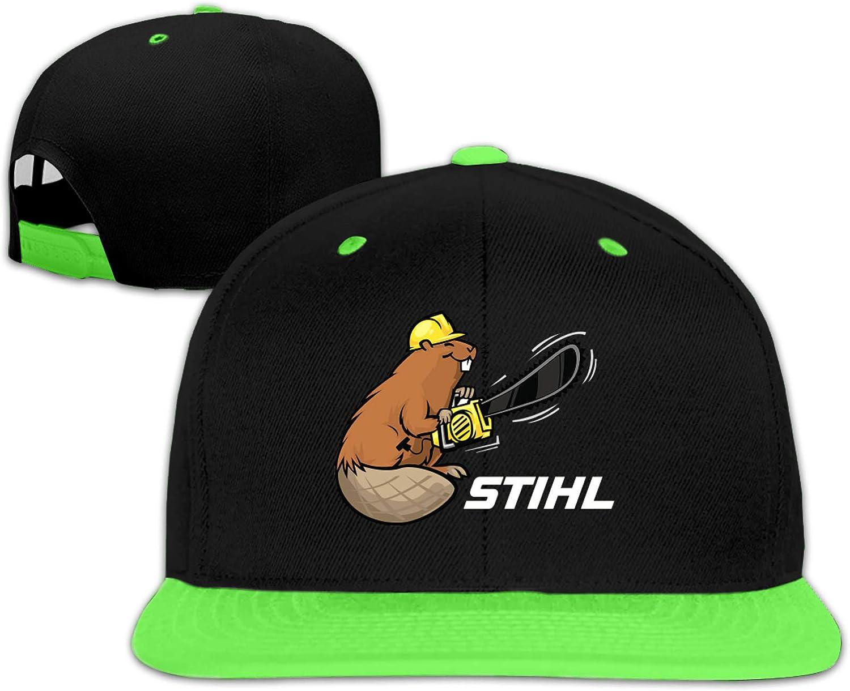 STIHL Chainsaw Logo Childrens Hats Adjustable Hip Hop Flat Brim Baseball Cap Comfortable Sports Cap