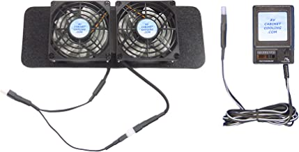 Dish DVR Cooling Fans for VIP 722/622/922/612, with thermoswitch & Multi-Speed Control