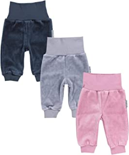 TupTam Pantalones de Bebé para Niñas de Terciopelo. Paquete de 3