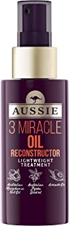 Aussie 3 Miracle Oil Reconstructor Lightweight treatment 100ml - with Australian Macadamia Nut Oil, Australian Jojoba Seed Oil, Avocado Oil for damaged hair.