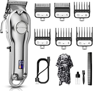 SUPRENT Hair Clippers for Men,Hair Trimmer Cordless Rechargeable Hair Cutting Kit for Home,Hair Cutting with LED Display,6...