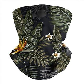 Unisex Tropical Floral Strelitzia Cute Parrots Face Bandanas Neck Gaiter Warmer Face Scarf