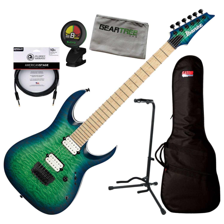 Cheap Ibanez RGAIX6MQMSRB RGA Iron Label Surreal Blue Burst Electric Guitar w/Bag Tun Black Friday & Cyber Monday 2019