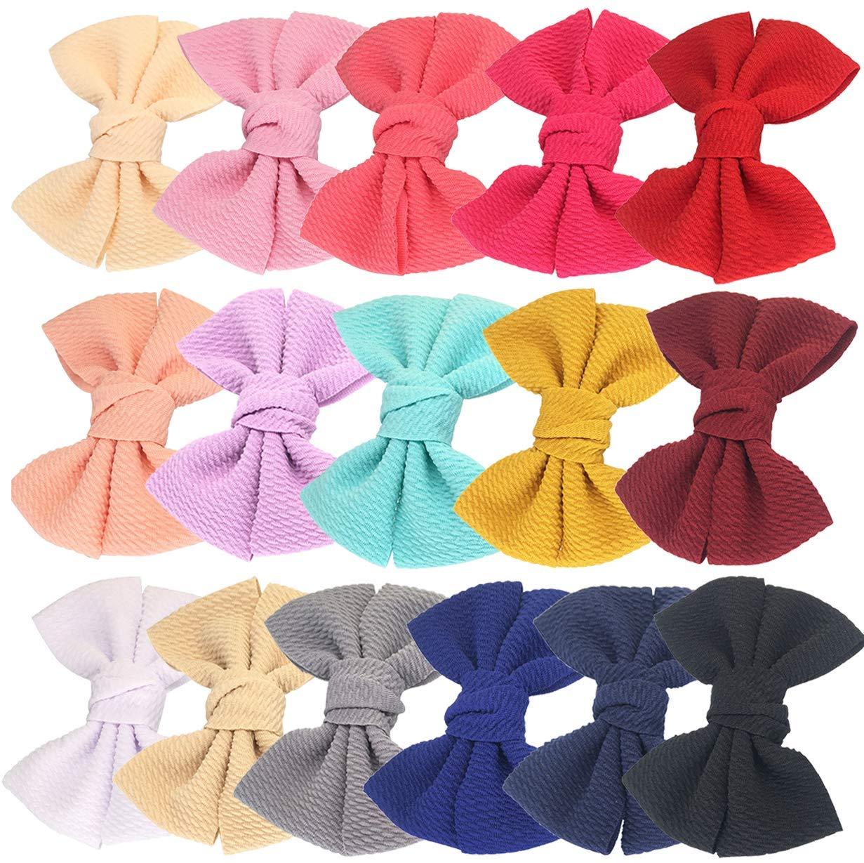 16pcs Baby Girl's Hair Bows Cheap sale Fabric 4 Clips Las Vegas Mall inch