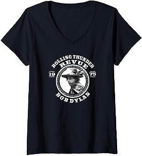 Femme Bob Dylan - Revue T-Shirt avec Col en V