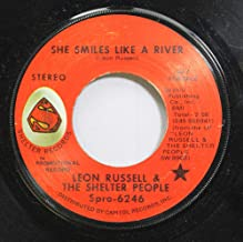 Leon Russell & The Shelter People 45 RPM She Smiles Like A River / BLANK