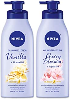 Nivea Oil infused variey pack - vanilla and cherry blossom, 33.8 Fluid Ounce