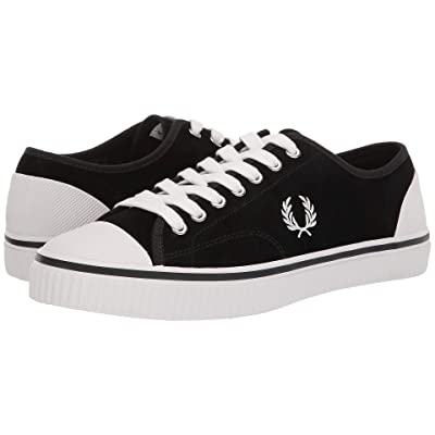 Fred Perry Hughes Low Suede (Black/Snow White) Men