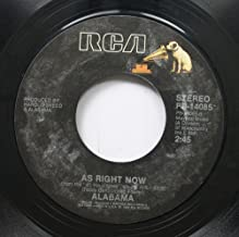 Alabama 45 RPM Forty Hour Week (For A Livin') / As Right Now