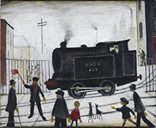 Berkin Arts L.S. Lowry Giclee Canvas Print Paintings Poster Reproduction(Level Crossing)