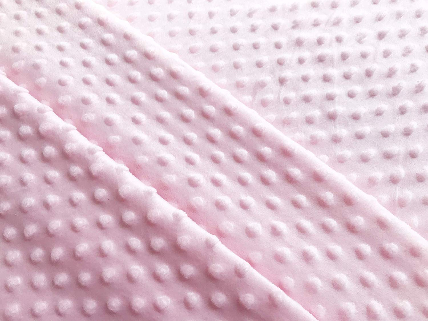 CORAL PINK Luxury Supersoft DIMPLE Cuddle Soft Fleece Fabric Material