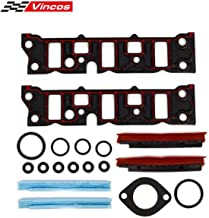 Vincos Engine T Intake Manifold Gasket Lower Intake Gaskets Set Compatible with Buick/Chevy/Oldsmobile/Pontiac V6 3.8 1995-2009