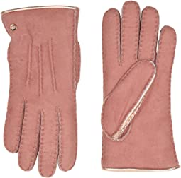 Leather and Water Resistant Sheepskin Mixed Gloves