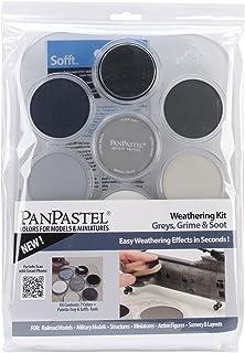 Colorfin PanPastel Ultra Soft Artist Pastel Set, 9ml, Weathering, Grays/Grime/Soot, 7-Pack