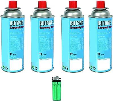 Cartuchos de gas butano universales para cocina de camping y herbicida, 4 unidades