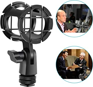 Neewer Microphone Shock Mount Clip Mic Holder Stand Anti Vibration with Cold Shoe for Camera and Boompole, Microphones 25-48mm Diameter Perfect for Rode NTG1 NTG2 and More