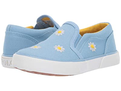 Polo Ralph Lauren Kids Bal Harbour Repeat (Toddler/Little Kid) (Elite Blue Canvas/Daisy Floral) Kid