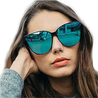 Cat Eyes Sunglasses for Women, Polarized Oversized...
