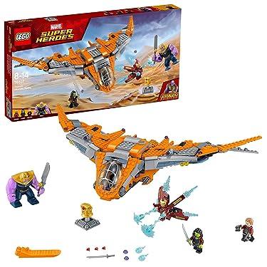 LEGO 76107 Marvel Avengers Thanos Ultimate Battle Playset, The Guardian's Ship, Iron Man, Star-Lord, Gamora & Thanos Action Figures, Superhero Toys for Kids