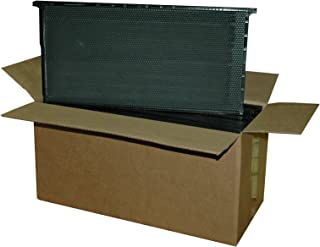 Mann Lake PF116 10-Pack Standard Wax Coated Plastic Frame, 9-1/8-Inch, Black