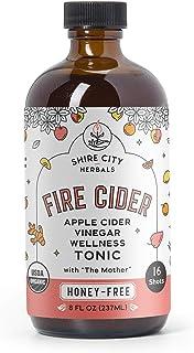 Fire Cider, Tonic, 8 oz, Honey-Free flavor, 16 Daily Shots, Apple Cider Vinegar, Whole, Raw, Organic, Not Heat Processed, ...