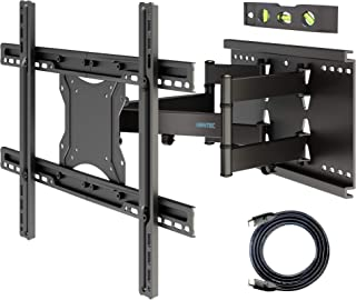 BONTEC Soporte de TV en Pared Inclinación y Giro para Televisores de 37-80 Pulgadas LCD/LED Movimiento Comlpeto - Brazo Do...