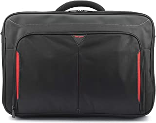 Targus Classic Clamshell Laptop Bag specifically designed to fit up to 17-18-Inch, Black/Red (CN418EU)
