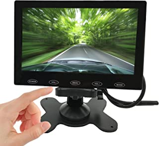 "PONPY 7"" Ultra Thin 16:9 HD 800x480 Color TFT LCD Car Rear View Monitor Headrest Reverse Display Monitor Support 2-CH Vide..."