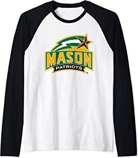 George Mason University Patriots NCAA RYLGMU06 Raglan Baseball Tee