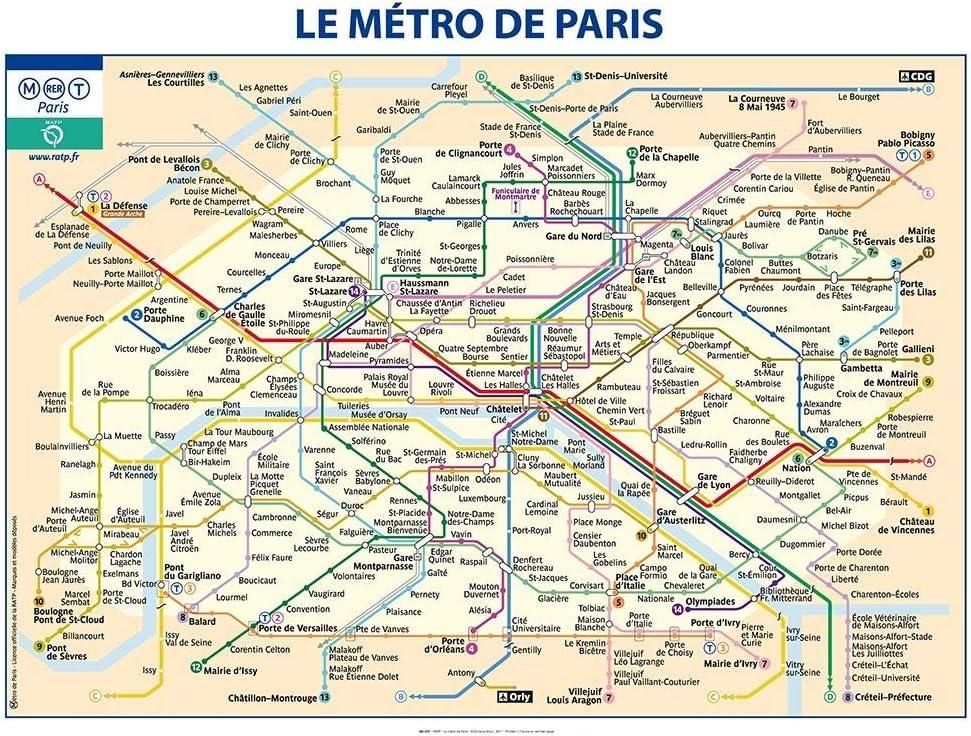 Feeling At Home Impression Sur Toile Enroulee Metro De Paris Ratp Plans Affiche Imprimer Sur Toile Enroulee 100 Coton Pour Decoration Murale Dimensions 75 X 100 Cm Amazon Fr Cuisine Maison