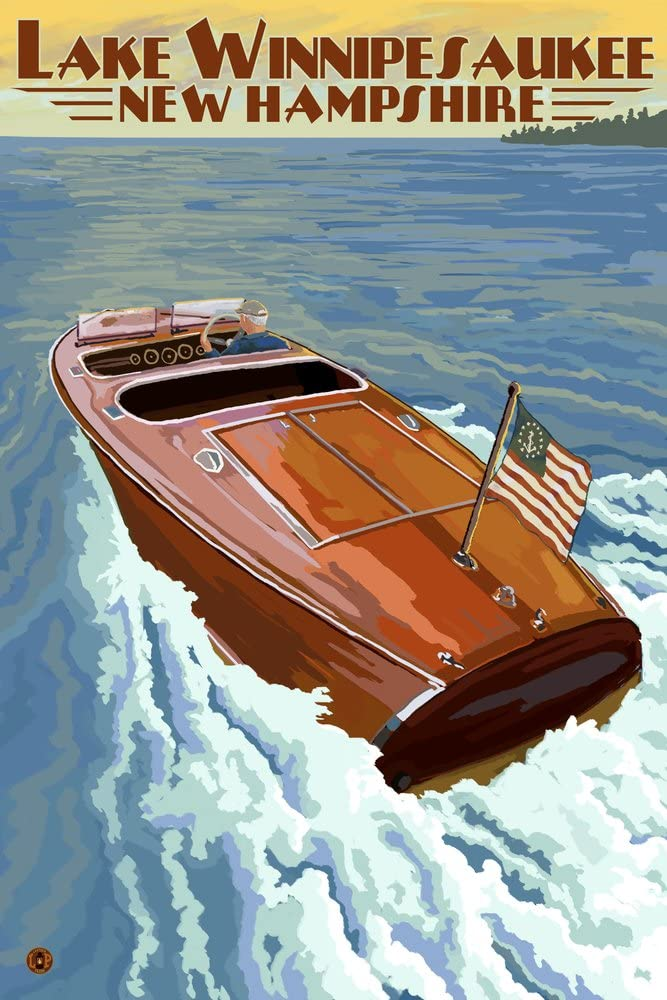 Lake Winnipesaukee New Hampshire Wooden Gicl Max 79% Ranking TOP7 OFF 36x54 Boat 46234