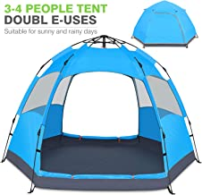 Victostar Instant Pop Up Family Camping Tent,Double Layer...
