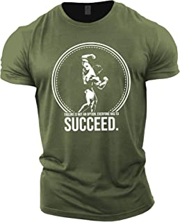 Mens Bodybuilding T-Shirt - Arnold Schwarzenegger Succeed - Gym Training Top