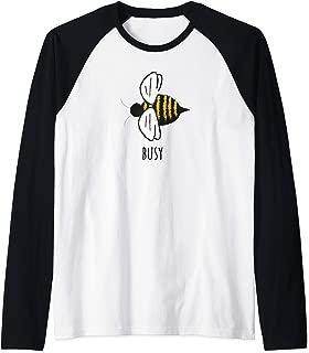 Be Busy Happy Motivational Multi-Tasking Nature Bee Lover Raglan Baseball Tee