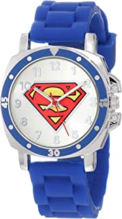 Superman Kids' SUP9012 Superman Logo Watch with Rubber Band
