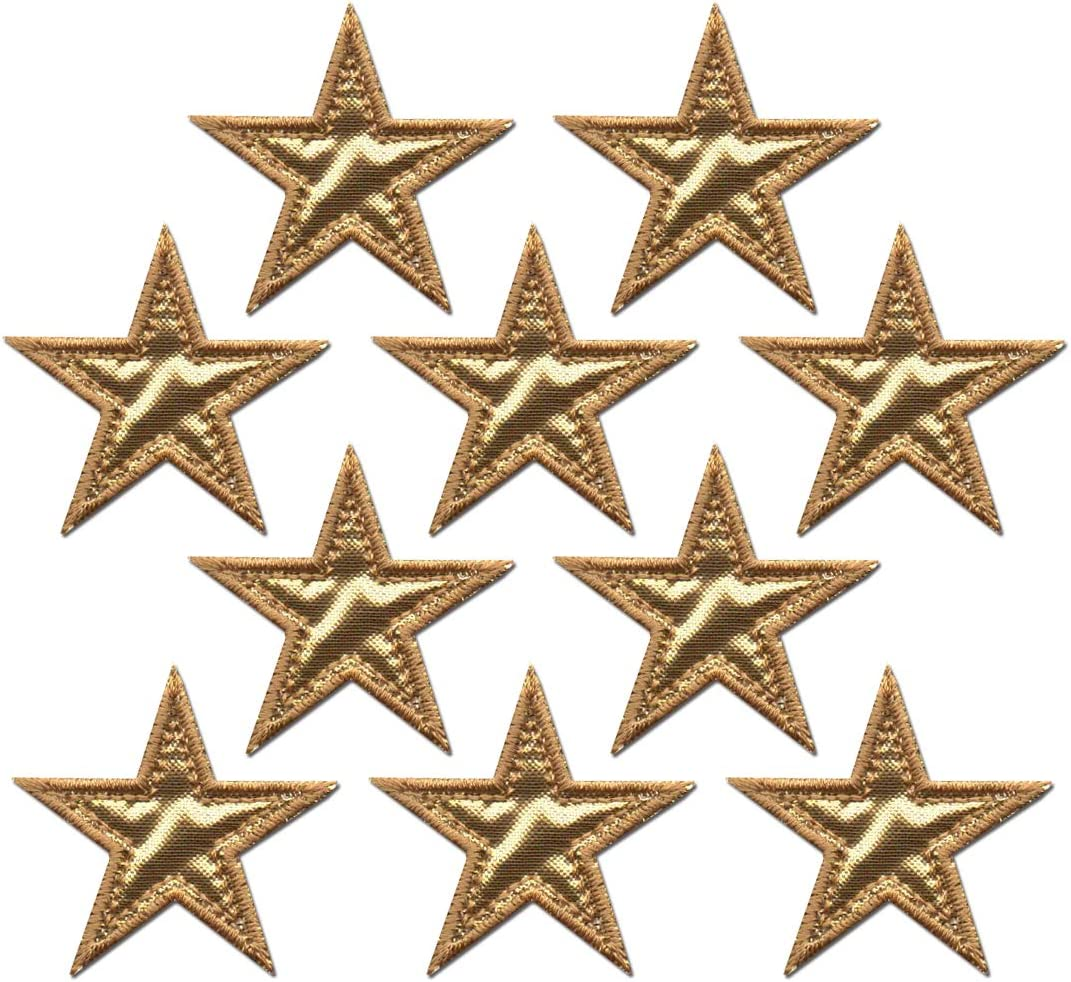 10PCS Star Patch Iron On Sew On Embroidered Clothes Applique Decor Sewing