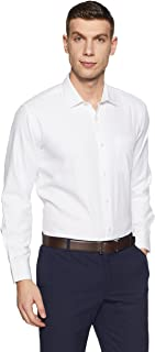 Amazon Brand - Symbol Men' Plain Regular Fit Formal Shirt