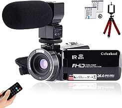 CofunKool Camcorder 1080P 26MP Video Camera WiFi Vlogging Camera for YouTube, 270° Flipping 3.0