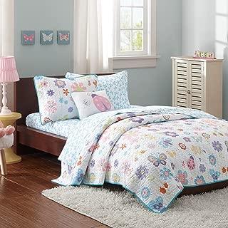 Butterfly & Ladybug Girls Twin Quilt, Sham, Sheets & Toss Pillow (6 Piece Bed In A Bag) + HOMEMADE WAX MELT