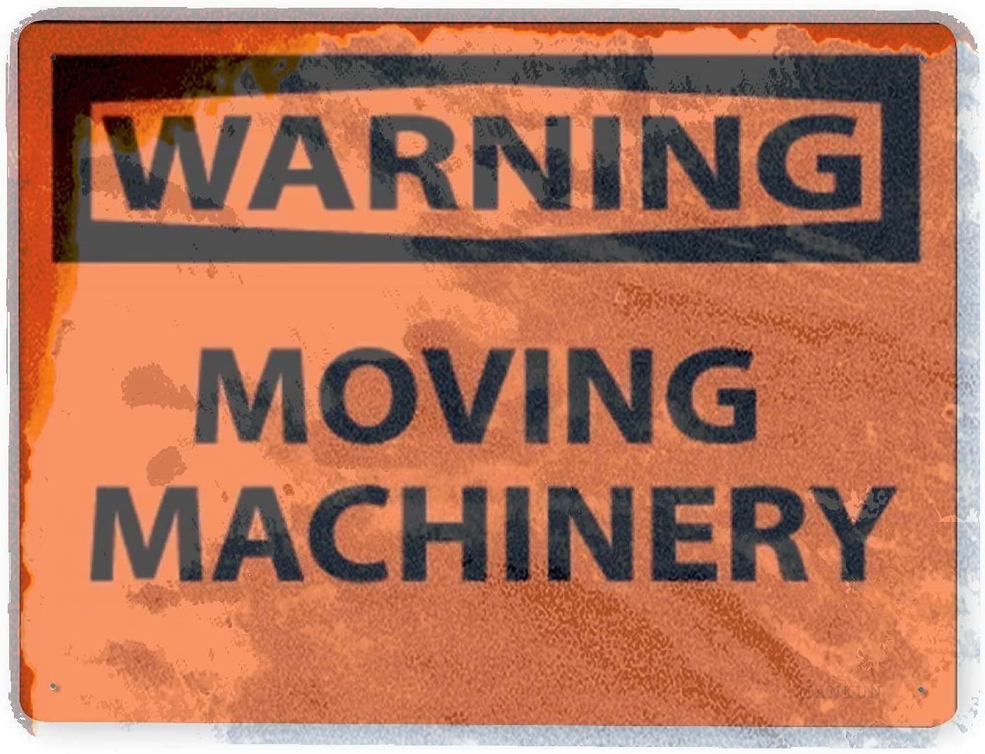 J.DXHYA Man Cave Decor 2 Mach Latest item Purchase Warning Pieces Sign Moving